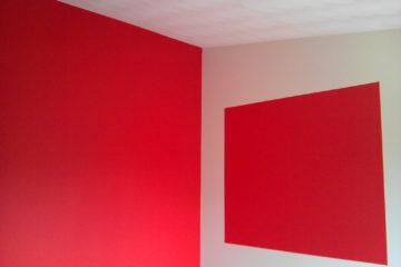 binnenschilderwerk schilder in amersfoort plafond muren rood wit stukadoor armenschilders.nl