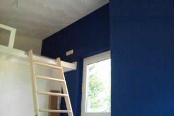 binnenschilderwerk schilder in amersfoort plafond muren wit blauw kamer stukadoor armenschilders.nl